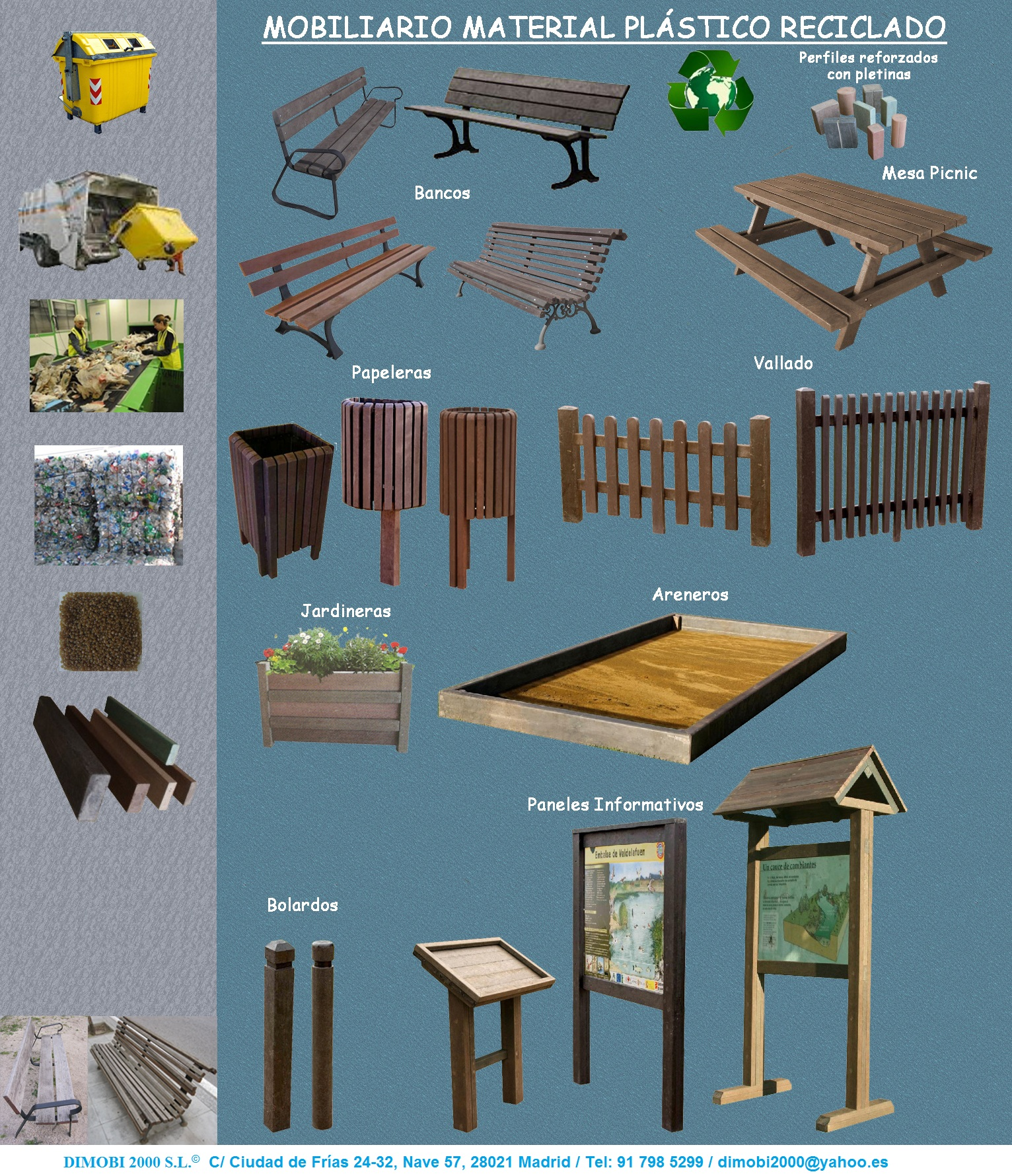 Dimobi 2000 mobiliario urbano se alizacion y parques - Mobiliario urbano madrid ...