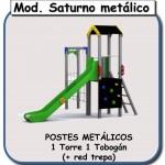 modelo Saturno metálico