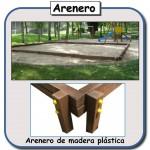 Arenero de madera plastica