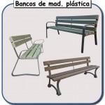 Bancos de madera plastica