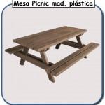 Mesa Picnic de madera plastica