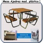 Mesa Ajedrez de madera plastica