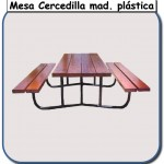 Mesa Cercedilla de madera plastica