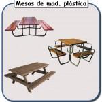 Mesas de madera plastica