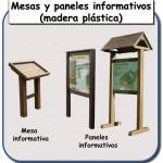 Mesas y paneles informativos de madera plastica