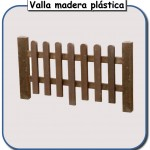Valla de madera plastica
