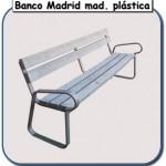 banco madrid de madera plastica