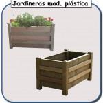 Jardineras de madera plastica