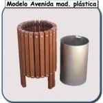 Papelera Avenida de madera plastica