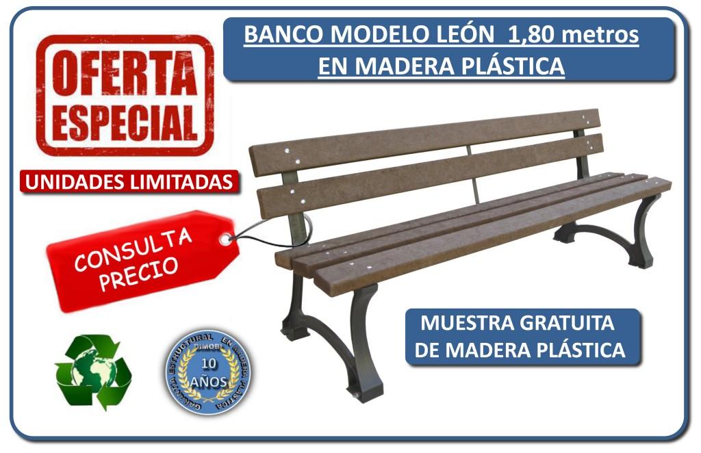 oferta banco madera plastica