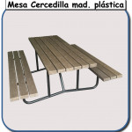 Mesa Cercedilla madera plástica